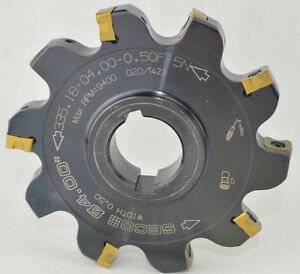 4 Seco Slot Disc Milling Cutter 335 18 04 00 0 50f 5n Inserts 0 50 1 2 Wide