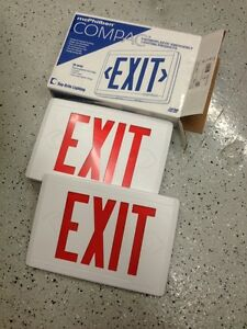 Mcphilben Compac Thermoplastic Cx Series Exit Sign Cxl3rw Led New Lot Of 12