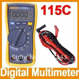 New Fluke F115 115c Field True Rms Multimeter 1000uf Backlight W Bag