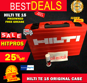 Hilti Te 15 Case this Is Only Case Preowned Hilti Grease Included Fast Ship