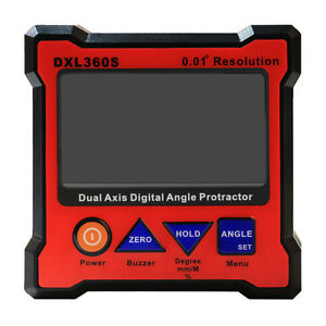 Dxl360s Digital Lcd Protractor Inclinometer Single Dual Axis Level Box Ed