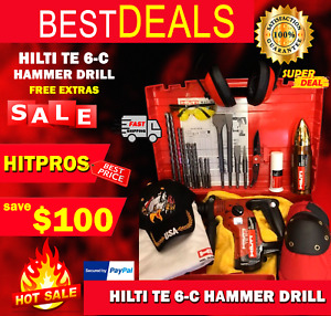 Hilti Te 6 c Hammer Drill Preowned Free Thermo Lot Of Extras Fast Ship