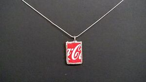 Coca-Cola Upcycled Glass Bottle Necklace - MADE IN USA