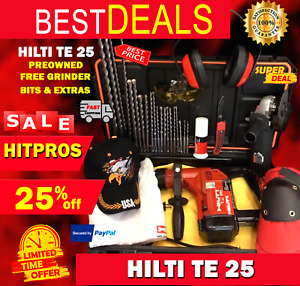 Hilti Te 25 Preowned Free Grinder Bits A Lot Of Extra Fast Ship