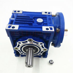 Nmrv050 Worm Speed Reducer Gearbox 80b14 Flange 10 20 25 30 40 50 60 80 100 1