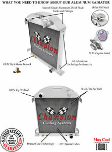 1928 1929 Ford Model A Champion 3 Row Aluminum Radiator W Chevy Configuration