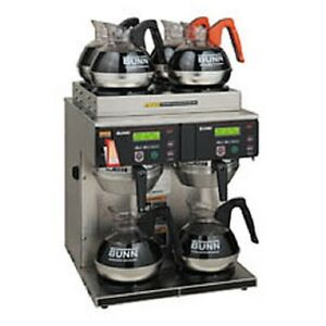 New Bunn 12 Cup Auto Coffee Brewer With 6 Warmers 4 2 Twin