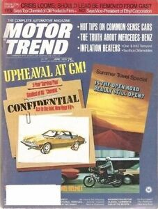 Motor Trend June 1974 Austin Bmw Buick Cadillac Chevy Datsun Dodge M B Olds Mg