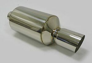 Obx Universal Howitzer Stainless Steel Muffler With Slant Cut 3 Od Inlet