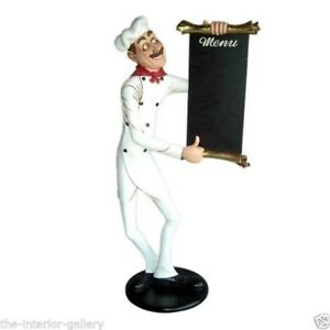 Chef Cook With Menu Sign Life Size Food Sign Skinny Chef With Menu 6 Ft