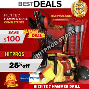 Hilti Te 7 Preowned Free Thermo Bits Plus Extras Fast Ship