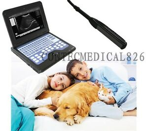 Vet Veterinary Digital Ultrasound Scanner Laptop Machine 7 5mhz Rectal Probe