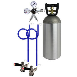 Kegco 2 Keg Direct Draw Kit For Kegerators And Jockey Boxes With 10 Lb Co2 Tank