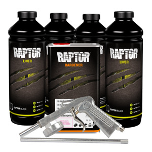 U Pol 820v 726 Voc Raptor Black Spray On Truck Bed Liner Kit 4 L