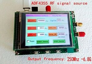 Adf4355 250mhz 6 8g Sweep Rf Signal Generator Vco Microwave Frequency
