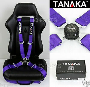 1 Tanaka Universal Purple 4 Point Camlock Quick Release Racing Seat Belt Harness