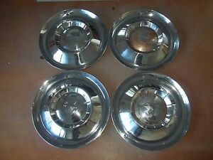 1954 54 Mercury Hubcap Rim Wheel Cover Hub Cap 15 Oem Used Set 4