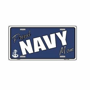 Proud Navy Mom Novelty Vanity License Plate Tag Sign