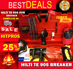 Hilti Te 905 avr Preowned Free Angle Grinder Chisels Plus Extras Fast Ship