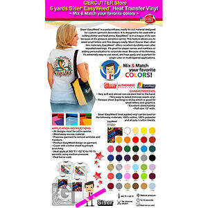 Gercutter Store 6 Yards Siser Easyweed Heat Transfer Vinyl Mix