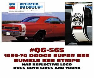 Qg 565 1969 70 Dodge Coronet Super Bee Bumble Bee Stripe Licensed