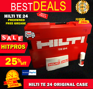 Hilti Te 24 Case Preowned Original Free Hilti Grease Included Fast Ship