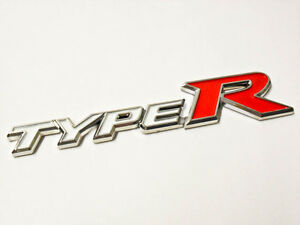 Honda Type R Grill Emblem White Logo Badge Sicker Decal Civic Accord Jdm New 3d