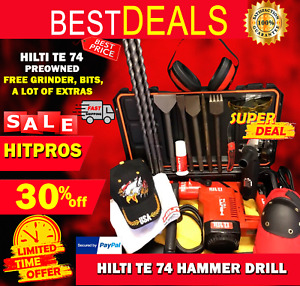 Hilti Te 74 Preowned Free Grinder Bits A Lot Of Extras Fast Ship
