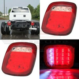 Set Of 2 Cab Chassis Truck Trailer Stop Turn Signal Lamp Reverse Tail Light 12v