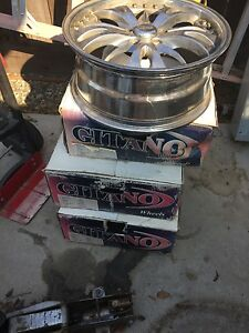 Gitano Chrome 18inch Rims