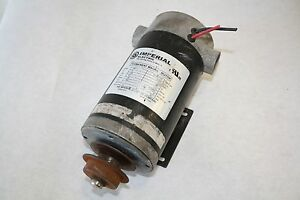 Imperial Electric Smd012 Permanent Magnet Motor 18 Hp 24 Vdc Rpm 1220