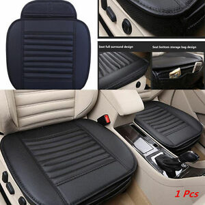 Car Pu Leather Full Surround Bamboo Charcoal Seat Protect Mat Cover Cushion Pad
