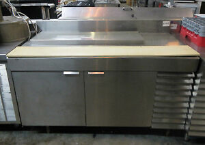 Stainless Steel Work Station Prep Table Refrigerated W Cutting Board