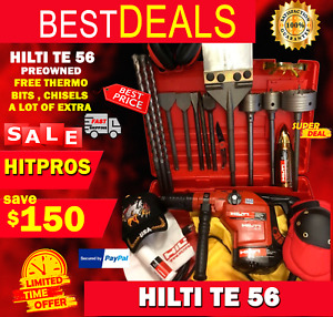 Hilti Te 56 Preowned Free Thermo Bits Chisels A Lot Of Extra Fast Ship