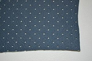Ford Perforated Headliner Vinyl Dark Blue Material By The Yard Top Quality