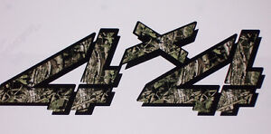 4x4 4 2 Color Mossy Oak Camo Bed Side Decals Decal Fit Chevy Gmc 1500 2500 3500