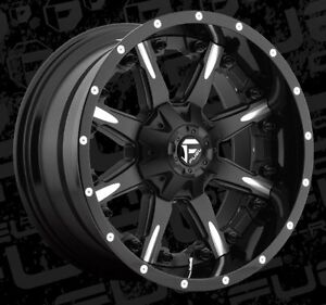 20x10 Fuel Nutz D251 8x6 5 Et 19 Black Milled Wheels Rims set Of 4