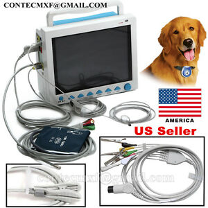 Ce Fda Veterinary Vital Signs Patient Monitor Ecg Nibp Spo2 Resp Temp Pr