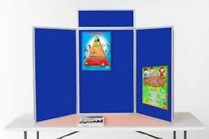 Tabletop Exhibition Display Kit Portrait 3 Panels With Bag Header