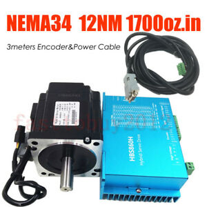 Nema34 12nm Dsp Closed Loop Stepper Motor Hybrid Servo Drive Kit For Cnc Routers