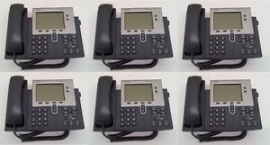 Lot Of 6 Cisco 7940g Ip Phone 7940 grade A