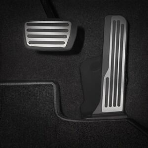 2016 2018 Camaro Automatic Transmission Pedal Covers 84134669 Brushed Aluminum