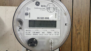 Ge Kv 3 Phase Fm9s 120 480v Watthour Meter For Use With Instrument Transformers