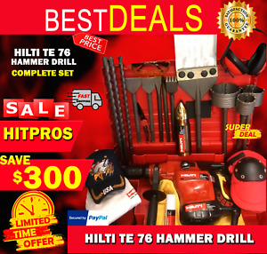 Hilti Te 76 Preowned Free Thermo Bits Chisel A Lot Of Extras Fast Ship