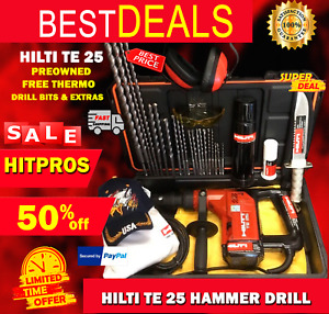 Hilti Te 25 Preowned Free Thermo Drill Bits A Lot Of Extras Fast Ship