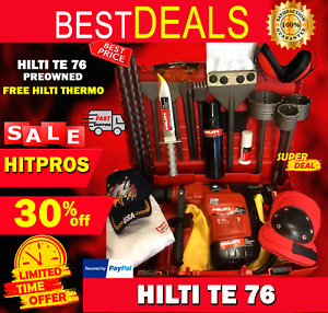 Hilti Te 76 Preowned Free Hilti Thermo Chisels Bits Lot Of Extras Fast Ship