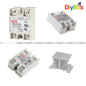 Ssr 25 40 100da Solid State Relay Module For Arduino aluminum Heat Sink For Ssr