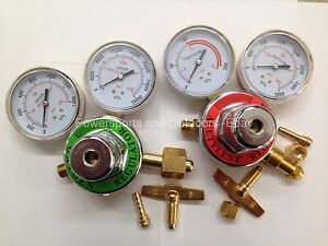 Acetylene Oxygen Set Of 2 Torch Regulators For Brazing welding cutting brass