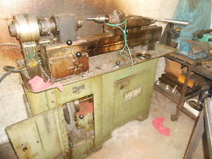 Rivett 6 Station Chucker Lathe W Hardinge Base Dunham Air Closure Belt Driven
