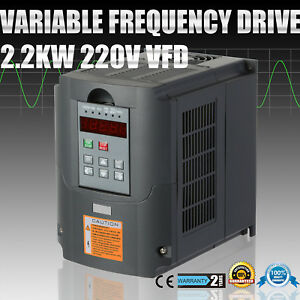 Variable Frequency Drive 3 Phase Single Speed Capability Vsd 2200w